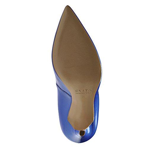 ALINA escarpins femme cuir verni bleu royal