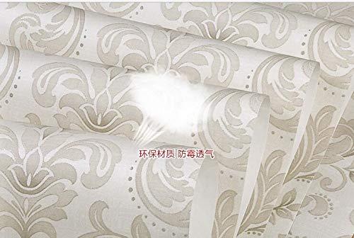 KYKDY Papel de Parede Luxus Zimmer im europäischen Stil Three-Dimensional Beflockung Wallpaper Hintergrund Restaurant ging, 3902