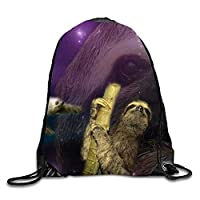 tyutrir Purple Tie Dye Drawstring Backpack Travel Rucksack Shoulder Bags Fashion Gym Bag 7586