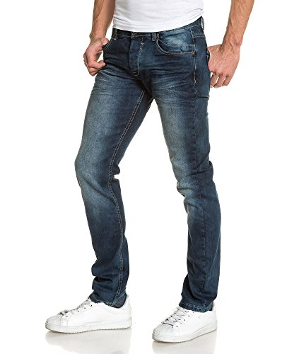 BLZ jeans - Jean beiläufig verblasste blau Mann Blau