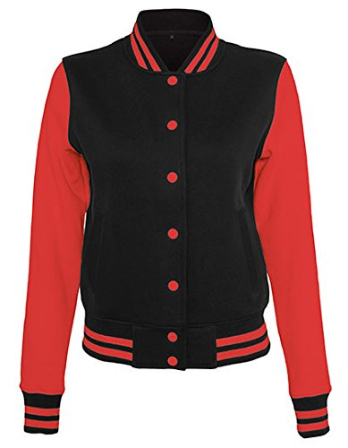 Veste Femme College Sweat Jacket Black/Red