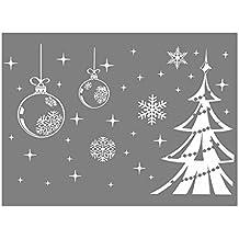 Blanco copo de nieve árbol de Navidad Pegatina de Pared Ventana Decoración extraíble moda vida impermeable Adhesivos Vinilo