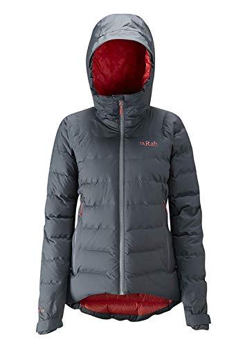 Rab Valiance Jacket Grau, Damen Daunen Daunenjacke, Größe 14 - Farbe Steel - Passata