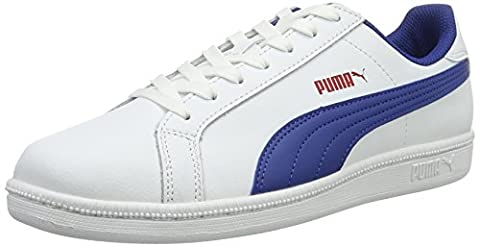 Puma Unisex-Kinder Smash Fun L Jr Sneakers, Weiß (Puma White-True Blue 12), 36 EU