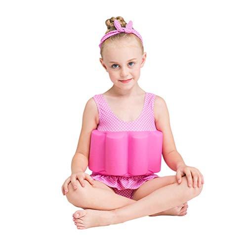EisEyen Kids Bojen-Badeanzug Jungen Mädchen Unisex Badenanzug mit Schwimmkraft Baby Schwimmhilfe Schwimmweste Size L (Rosa)