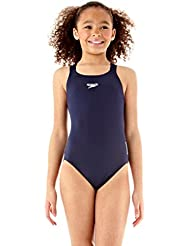 Speedo End+ Medalist 1-Pce Grls Costume da Bagno Junior, Blu, 12 anni