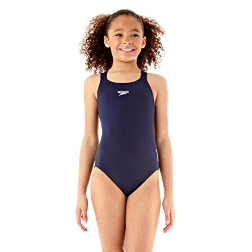 Speedo - Essential Endurance, Mädchen Badeanzug, Blau (Navy), 152 (Herstellergröße: 30)