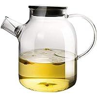 GSAGJsf Jarro de Cristal, hervidor de Agua fría Inicio, Botella cristalina del Agua for facilitar la Limpieza, fácil de Leche fría Agua Caliente café Jug 1700 ml
