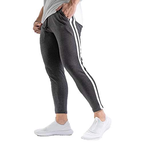 JiaMeng-ZI Pantalones Hombre Color Sólido Jogging
