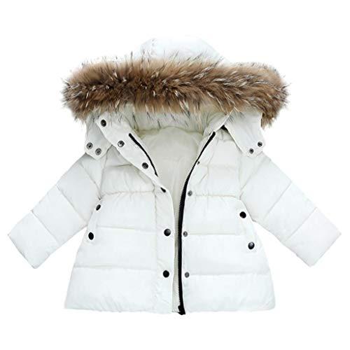 VICGREY ❤ Giacca Bambino Invernali con Cappuccio di Pelliccia Imbottite, Giacca del Mantello del Cappotto di Inverno della Neonata Giubbotto Vestiti Caldi Spessi Maniche Lunghe Giubbotto