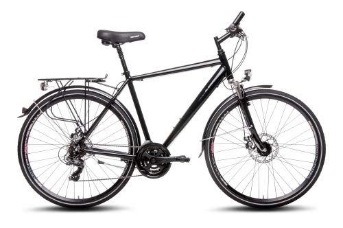 Sachsenring Bike Manufaktur Herren 28 Zoll Alu Trekking Fahrrad 21 Gang Scheibenbremsen schwarz