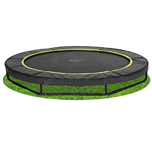 Bodentrampolin Magic Circle Pro Black 305 cm Schwarz