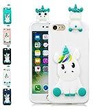 LA-Otter Coque iPhone 6S Plus 6 Plus Blanc Licorne Ultra Fine Slim Mince Silicone TPU...