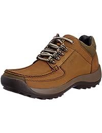 Franco Leone Men's Khakhi Leather Boots - 6 UK/India (40 EU)