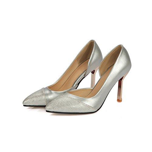 1to9, Chaussures À Talons Argentées Pour Femmes