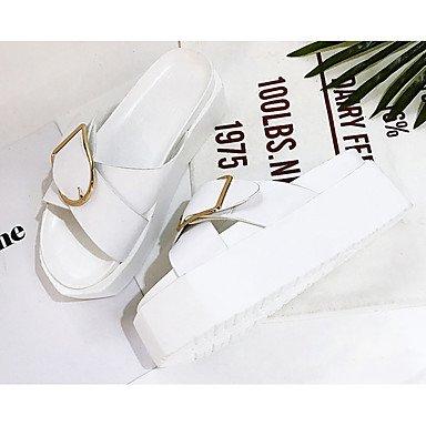 Zormey Damen Clogs & Amp; Pantoletten Sandalen Komfort Pur Frühling Sommer Herbst Casual Niedrigem Absatz Weiß Schwarz Unter 1 In US6 / EU36 / UK4 / CN36