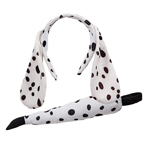 Animal Ears & Tail Set - Dalmation Dog Kids Unisex (Dog Kostüm Ear)