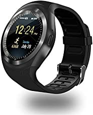 Eyuvaa Touch Screen Bluetooth Wireless Mobile Y1 Smart Watch with Camera and sim Card Support Compatible with All Smartphones