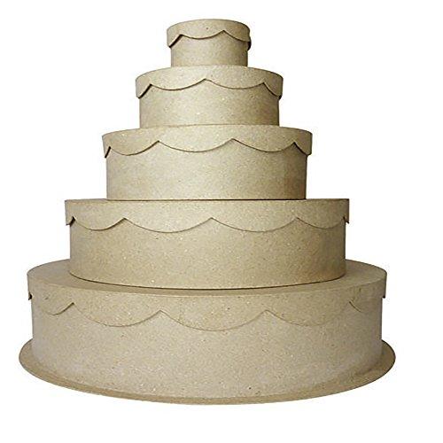 Décopatch BTS900O 5 Boxen rund Zeremonie aus Pappmaché, zum Verzieren, perfekt für Ihre Wohndeko,...