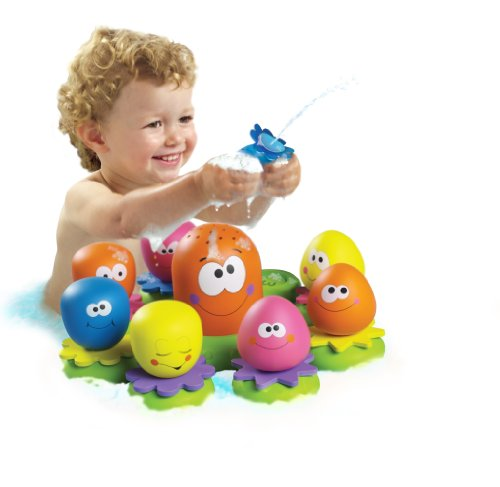 TOMY-Wasserspiel-fr-Kinder-Okto-Plantschis-mehrfarbig-hochwertiges-Kleinkindspielzeug-Spielzeug-fr-die-Badewanne-ab-12-Monate