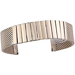 18mm Elegant Women's Milanese Watch Strap Wristband Stainless Steel Satin Quick Release Clasp Rose Gold Plated