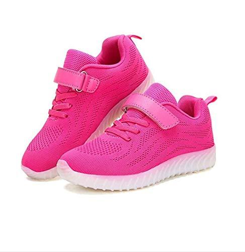 ZJEXJJ Kinder Jungen Mädchen Leuchten Schuhe USB Lade Flashing Sneakers Trainer (Kleinkind/Little Kid/Big Kid) (Farbe : Rosa, größe : 25) -