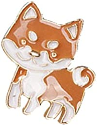 TBOPPIN THE BEST OF PLANET Simple And Stylish PIN For Unisex Jewelry Cute Dog Brooch In Brown And White Color...