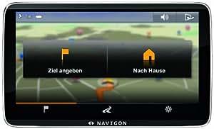 Navigon 92 Plus Navigationssystem (12,7 cm (5 Zoll) kapazitives Echtglas-Display, Europa 44, TMC, Navigon Flow, Text-to-Speech)