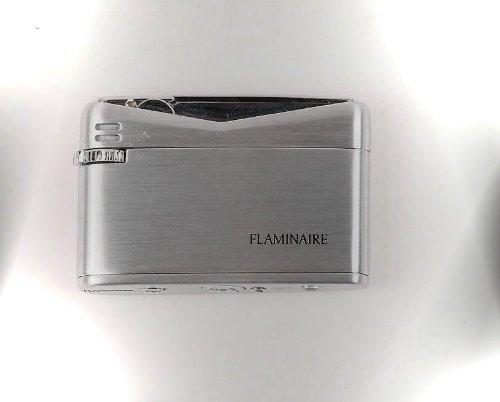 Flaminaire Satin Chrom Flint Gas-Feuerzeug