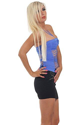 Fashion4Young 5644 tankini débardeur pour femme en tissu stretch et disponible en 8 couleurs Bleu - Bleu royal
