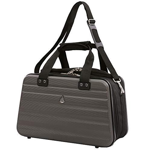 Aerolite bagaglio a mano ryanair 40x20x25 cm - valigia da cabina approvata dalle compagnie aeree, borsone da spalla rigido da viaggio, grigio carbone
