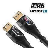 Monster Noir Platinum ultime câble HDMI haute vitesse avec Ethernet et des indicateurs de performance-3,7m.