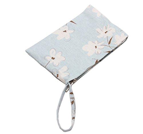 Laat portamonete portatile in piccola tasca borsa in cotone con chiusura lampo 8colori Colore 2 Color 2 11 * 20 Color 7