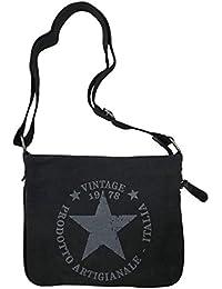 f9ef05d5640a9 JameStyle26 STERN Umhängetasche Damen Tasche Star Fashion Canvas Stoff Stamp