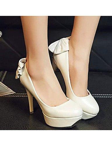 GS~LY Damen-High Heels-Lässig-PU-Stöckelabsatz-Absätze-Schwarz / Rot / Weiß white-us5.5 / eu36 / uk3.5 / cn35