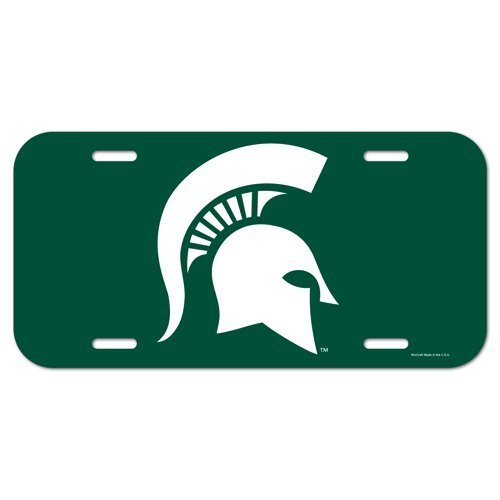 Michigan State Spartans NCAA License Plastic Plate Vanity Car Graphics Sign Tag Officially Licensed NCAA Merchandise by NCAA