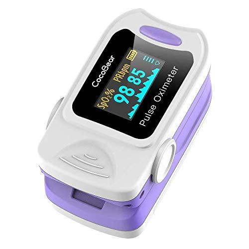 Pulsoximeter Professionelle tragbare Finger-Oximeter-Sättigungsmonitore, OLED-Display zur Messung des SpO2-Werts und der Herzfrequenz - CE-Zertifizierung Fast Reading Fit für die persönliche Gesundhei