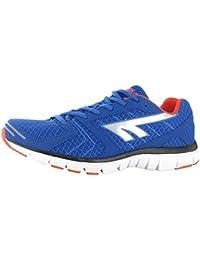 Hi-Tec Haraka Mens Casual Running & deporte para entrenamiento deportivo zapatos BLUE-RED, Azul/rojo, 11