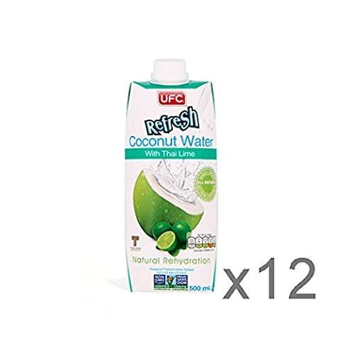 UFC Refresh 100% Coconut Water 500ml x12 - Thai Lime