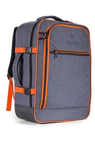 Zaino Vaska approvato come bagaglio a mano capacità 44 litri 55x40x20 cm - Grigio
