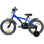 Prometheus-Bicicletta-per-Bambini-e-Bambine-da-5-Anni-nei-Colori-Blu-e-Nero-da-16-Pollici-con-rotelle-e-contropedale-BMX-da-16-Modello-2019