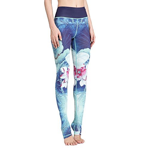 SEEU Damen legging für Yoga Workout Hellblaus S