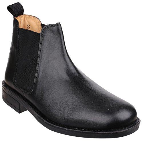 Cotswold Mens Colesbourne Leather Lined Chelsea Dealer Boot Black Noir