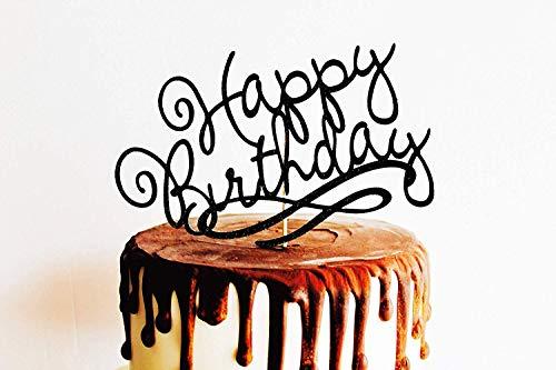 zeitstorte Dekoration Happy Birthday Fancy 1. Geburtstag rosa Blume Geburtstag Cup 30. 40. Hochzeit Geschenk Ideen Jahrestag Party Dekorationen ()