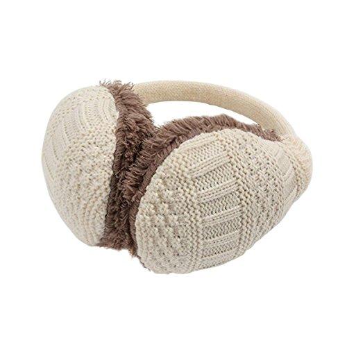 DAYAN Adulte unisexe Cache-oreilles d'oreilles d'hiver en laine amovible