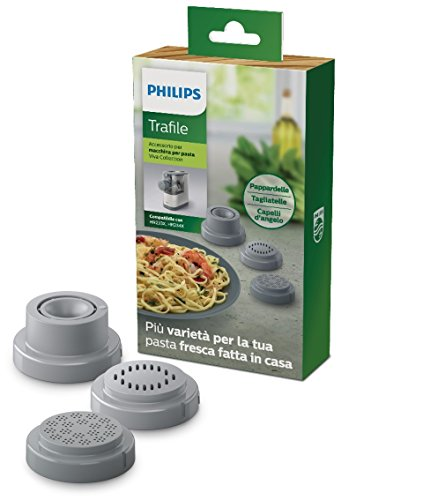 Philips hr2482/00  viva collection - accessorio per pasta maker avance - la confezione include 3 trafile: pappardelle, tagliatelle e capelli d'angelo