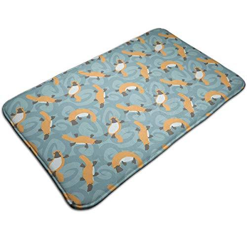 Myhou Duck Billed Platypus Fußmatte Entrance Floor Rug Indoor Mat rutschfest, Flannel for Bedroom Bathroom Living Room Kitchen Home Decorative -