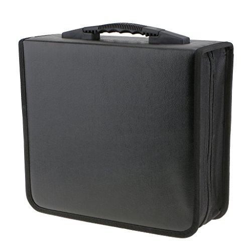 400Disc CD Bolso de Cuero PU Soporte de CD Caso DVD Carpeta Almacenamiento Organizador VCD