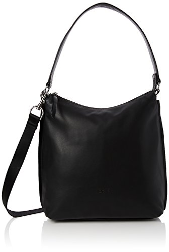 BREE Toulouse 4, black smooth, hobo 334909004 Damen Schultertaschen 32x12x30 cm (B x H x T), Schwarz (black smooth 909)