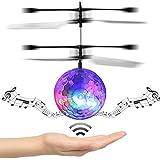 Switchali RC Juguete EpochAir RC Flying Ball, Drone RC HelicóPtero Bola Built-In Disco MúSica Con Shinning IluminacióN LED Para NiñOs Adolescentes Colorido Flyings Para NiñOs Juguete Claro